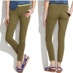 Madewell Skinny Skinny Ankle Jeans in Olive